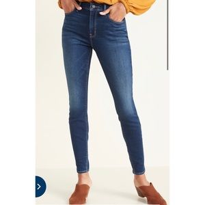 Old Navy Rockstar Jeans Dark Rinse Size 10 Tall